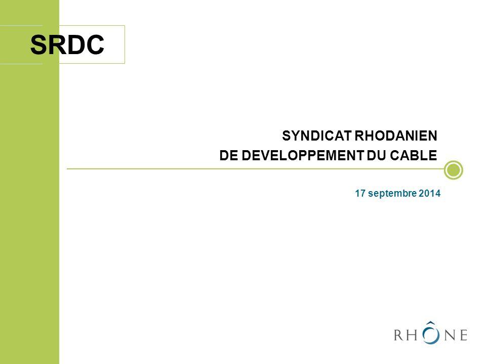 SYNDICAT RHODANIEN DE DEVELOPPEMENT DU CABLE 17 septembre 2014 ORDRE DU JOUR SRDC I.