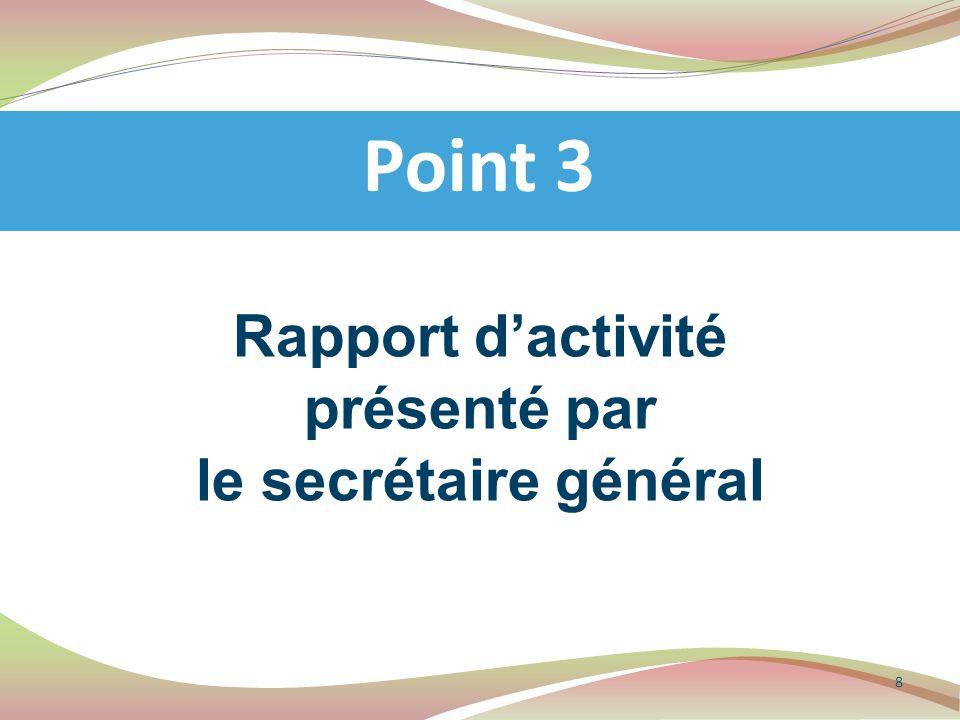 Présentation des décisions issues de l'AG fédérale de Mandelieu (6 avril 2014) Point 11 Pour info 19 Textes Fédéraux