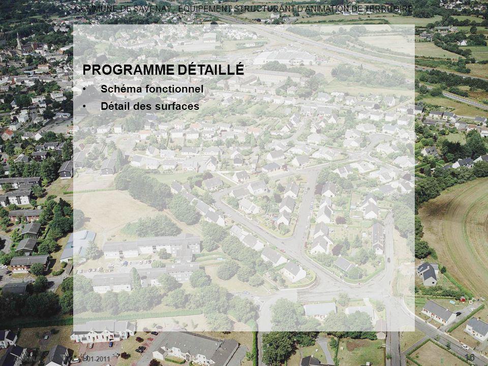 COMMUNE DE SAVENAY - ÉQUIPEMENT STRUCTURANT D'ANIMATION DE TERRITOIRE ARJUNA - 1006-2-G / 4-01-2011 16 PROGRAMME DÉTAILLÉ Schéma fonctionnel Détail de