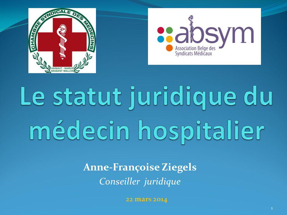 Anne-Françoise Ziegels Conseiller juridique 1 22 mars 2014