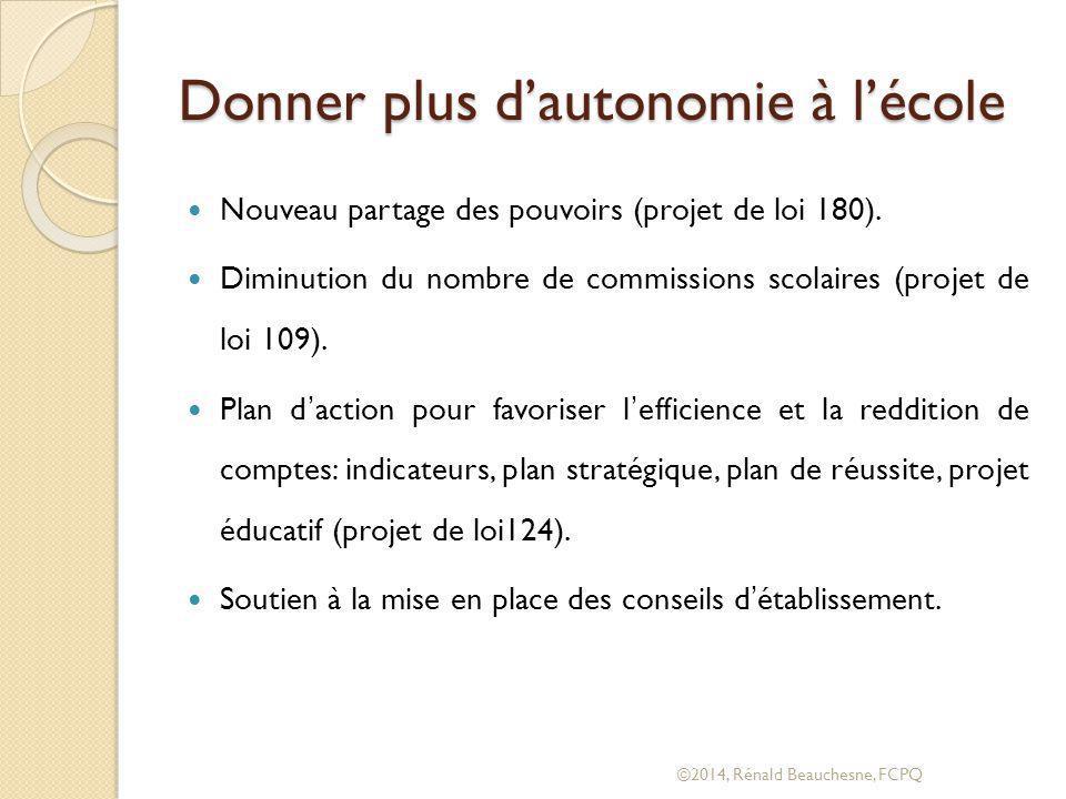 Analyse de la situation ©2014, Rénald Beauchesne, FCPQ