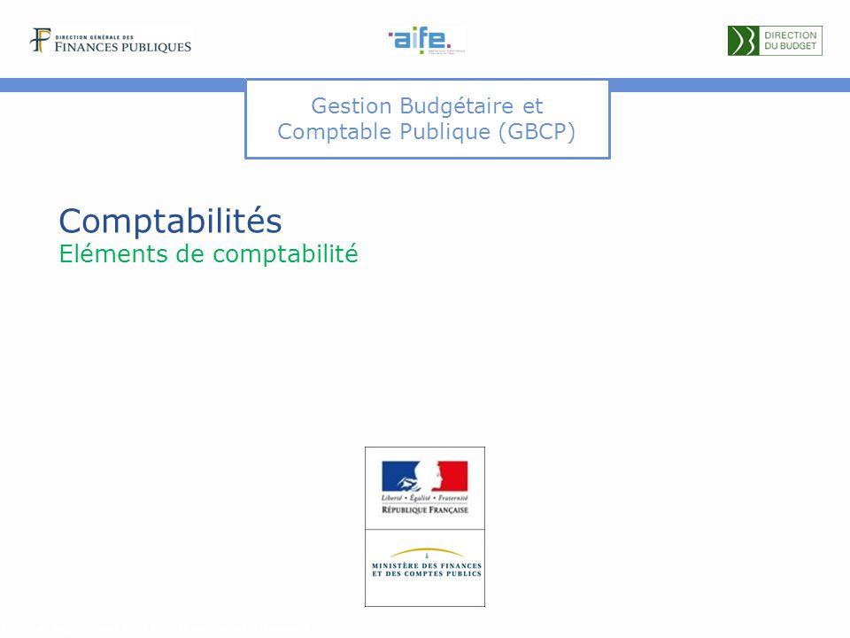 Gestion Budgétaire et Comptable Publique (GBCP) Comptabilités Eléments de comptabilité Détails et explicitations dans les commentaires du document