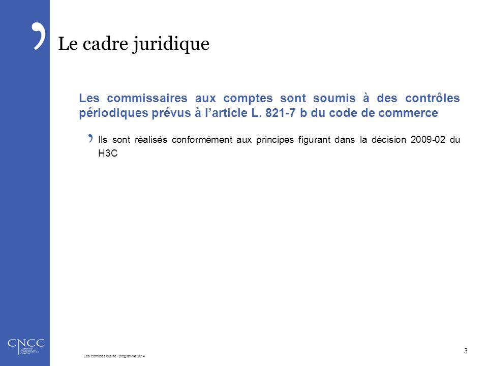 Le cadre juridique Les commissaires aux comptes sont soumis à des contrôles périodiques prévus à l'article L. 821-7 b du code de commerce Ils sont réa