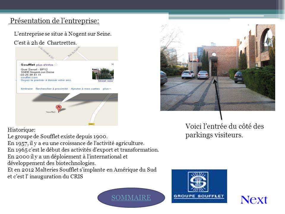 Présentation de l'entreprise: SOMMAIRE L'entreprise se situe à Nogent sur Seine. Voici l'entrée du côté des parkings visiteurs. C'est à 2h de Chartret