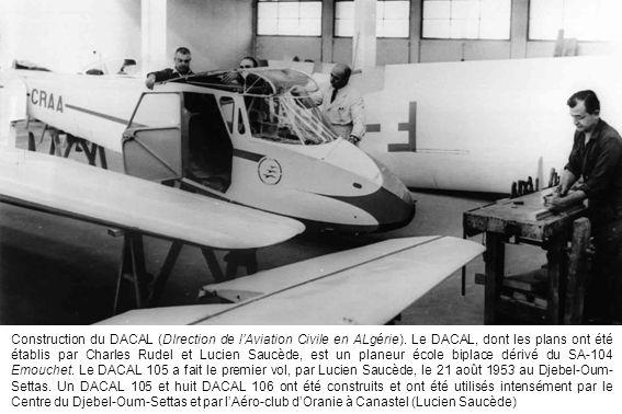 Construction du DACAL (DIrection de l'Aviation Civile en ALgérie). Le DACAL, dont les plans ont été établis par Charles Rudel et Lucien Saucède, est u