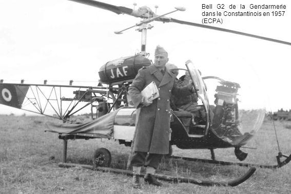 Bell G2 de la Gendarmerie dans le Constantinois en 1957 (ECPA)