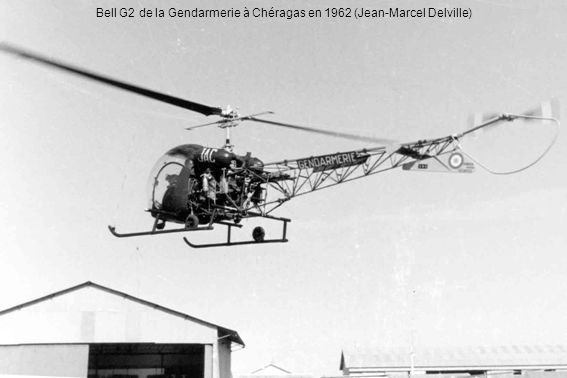 Bell G2 de la Gendarmerie à Chéragas en 1962 (Jean-Marcel Delville)
