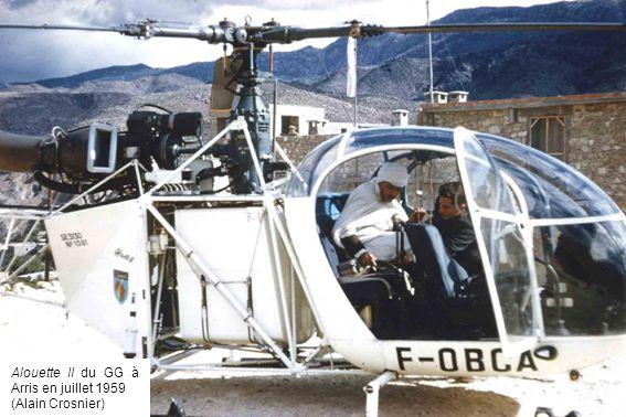 Alouette II du GG à El-Hanser en janvier 1960 (Gilbert Busca)