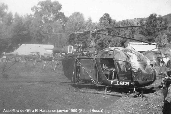 Bell G2 de la Gendarmerie à Souk-Ahras en 1957 (André Courant)