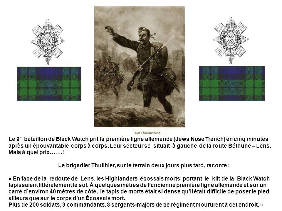 Les 7 ème Cameron et 10 ème Gordon Highlanders durent se livrer à de farouches corps à pour déloger les nombreux snipers allemands embusqués dans les