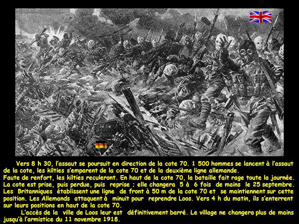 Vers 8 h 30, l'assaut se poursuit en direction de la cote 70.