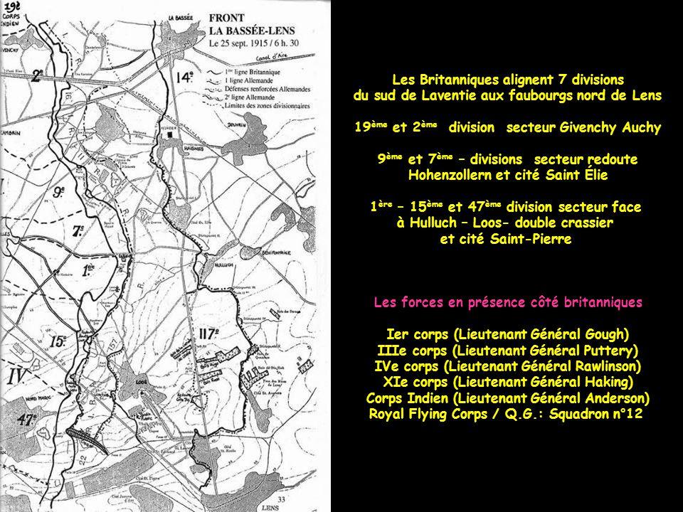 Entre le 16 mai et le 29 mai 1915, une réduction du front se fait. L'armée britannique prend place devant Loos jusqu'au sud vers la fosse n° 5, à la l