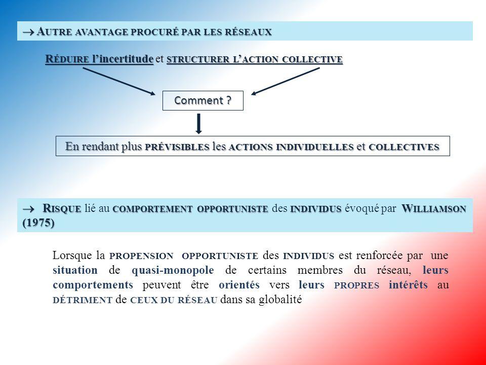 1.1 A NALYSE NÉO - INSTITUTIONNELLE DES RÉSEAUX 1.1.1Réseau public et coût de transaction : le poids des valeurs publiques 1.1.1 Réseau public et coût