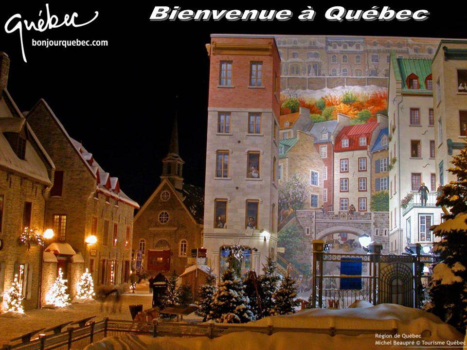 Blason du Québec : Tiercé en fasce ; au premier d'azur, à trois fleurs-de-lis d'or ; au second de gueules, à un léopard d'or armé et lampassé d'azur ; au troisième d'or, à une branche d'érable à sucre à triple feuille de sinople.