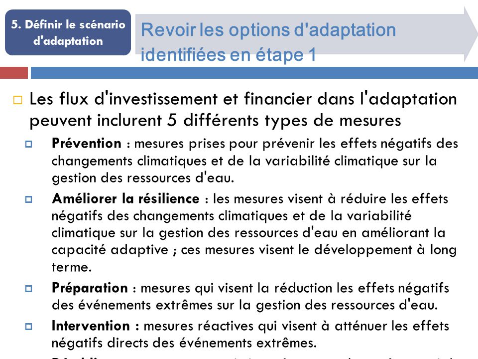 Exemple d options d adaptation 5.