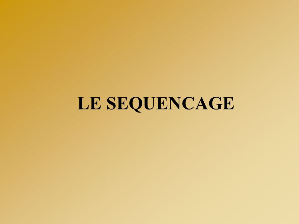 LE SEQUENCAGE