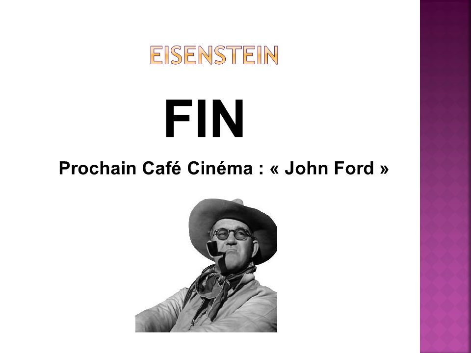 FIN Prochain Café Cinéma : « John Ford »