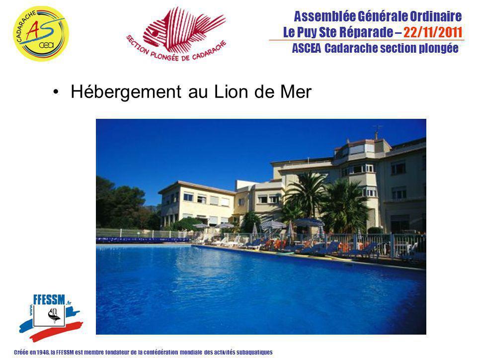Assemblée Générale Ordinaire Le Puy Ste Réparade – 22/11/2011 Créée en 1948, la FFESSM est membre fondateur de la confédération mondiale des activités