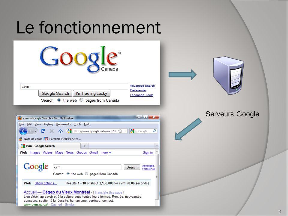Le fonctionnement Serveurs Google 3