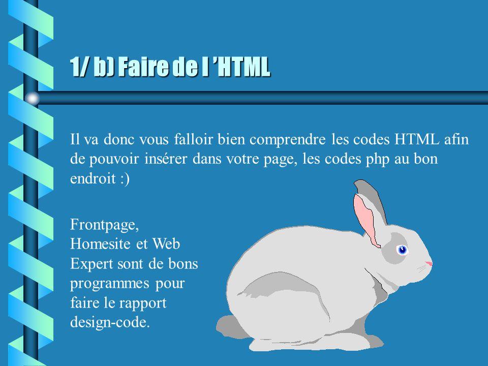 1/ a) Présentation générale PHP est un langage dynamique qui permet de faire des opérations sur des pages HTML (pages web).