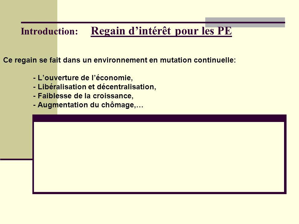I- Identification des PE Deux méthodes de classification: - La classification quantitative, - La classification qualitative.