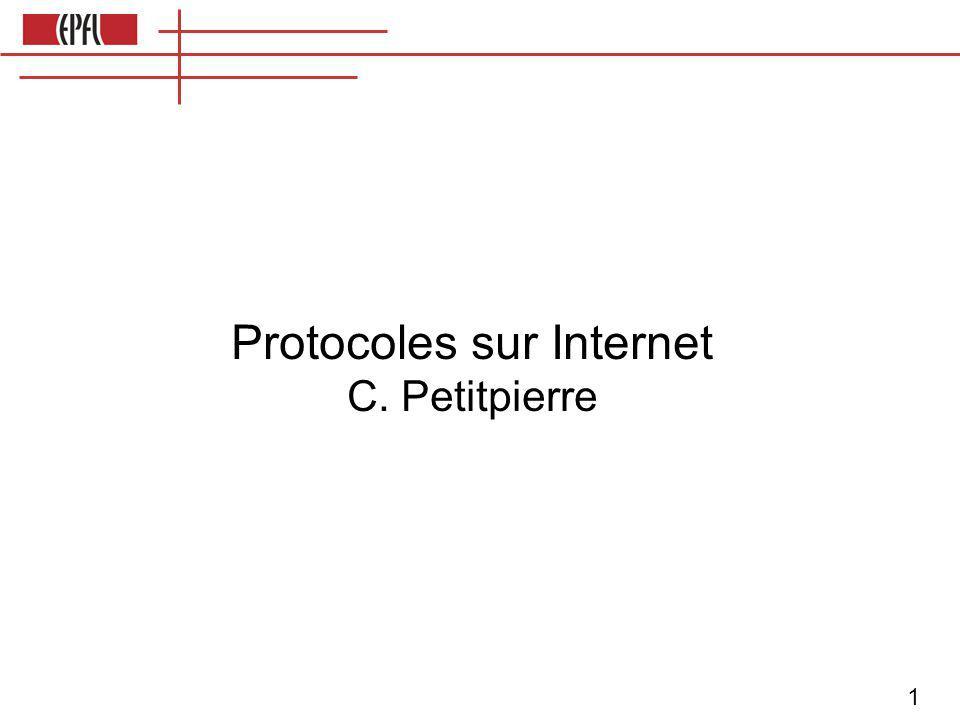 12 NAT: Network address translation Réseau local, IP interne IP:10, port:12 IP:12, port:21 IP:12, port:39 Monde: IP externe IP:192, port:1012 IP:192, port: 2021 IP:192, port: 2039 Les différents IP internes sont liés à des ports différents.
