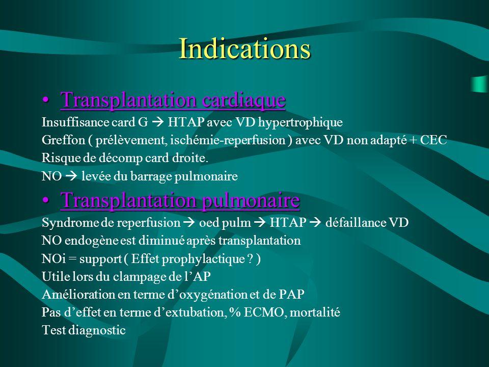Indications Transplantation cardiaqueTransplantation cardiaque Insuffisance card G  HTAP avec VD hypertrophique Greffon ( prélèvement, ischémie-reper
