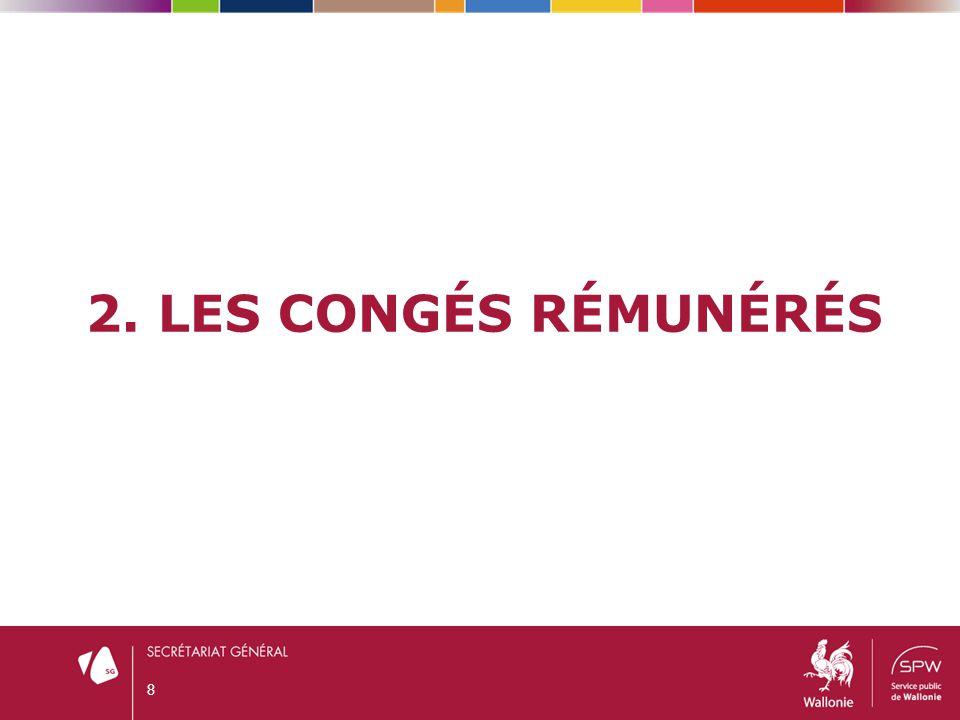 2.1.CONGÉ ANNUEL DE VACANCES (ART.