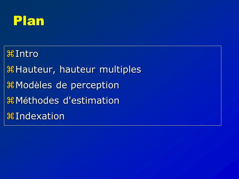 Hauteur et indexation (contribution digestive) Alain de Cheveigné CNRS - Ecole Normale Sup é rieure