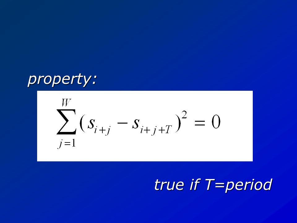YIN T=period signal model: