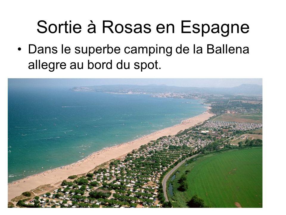 Sortie à Rosas en Espagne Dans le superbe camping de la Ballena allegre au bord du spot.