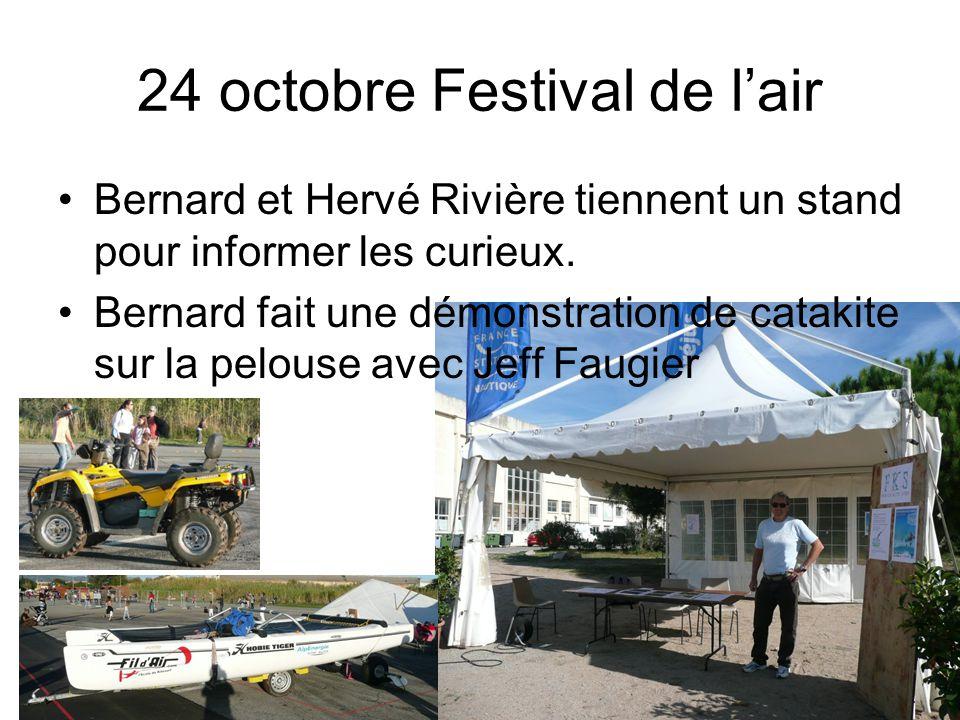 24 octobre Festival de l'air Bernard et Hervé Rivière tiennent un stand pour informer les curieux.