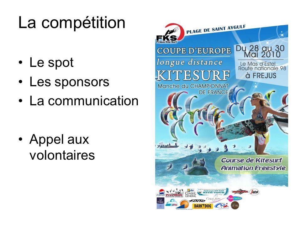La compétition Le spot Les sponsors La communication Appel aux volontaires