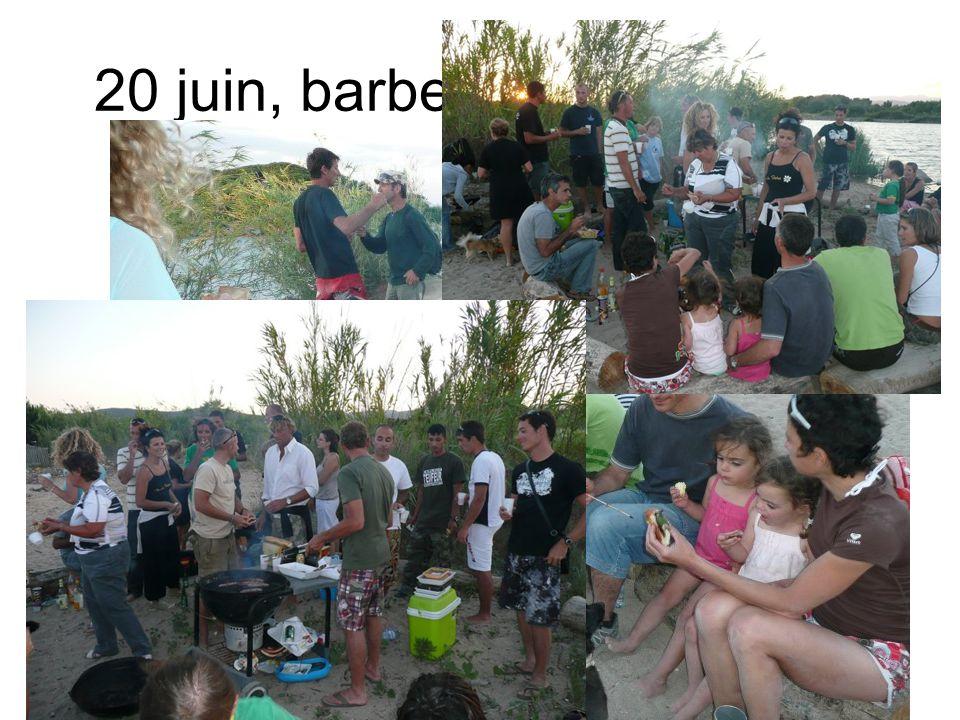 20 juin, barbecue sur la plage