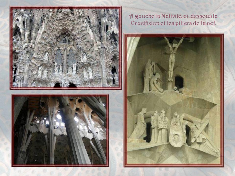 Poursuivant notre route, mais en négligeant bien d'autres constructions intéressantes, nous parvenons au célèbre Temple Expiatori de la Sagrada Familia, éternellement en construction, comme au temps des cathédrales moyenâgeuses… Gaüdi, qui la conçut, fut l'unique architecte de son époque qui obtint une commande qui l'occupa toute sa vie.