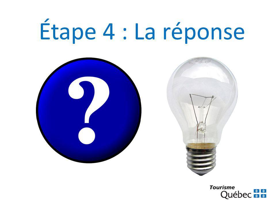 Étape 4 : La réponse