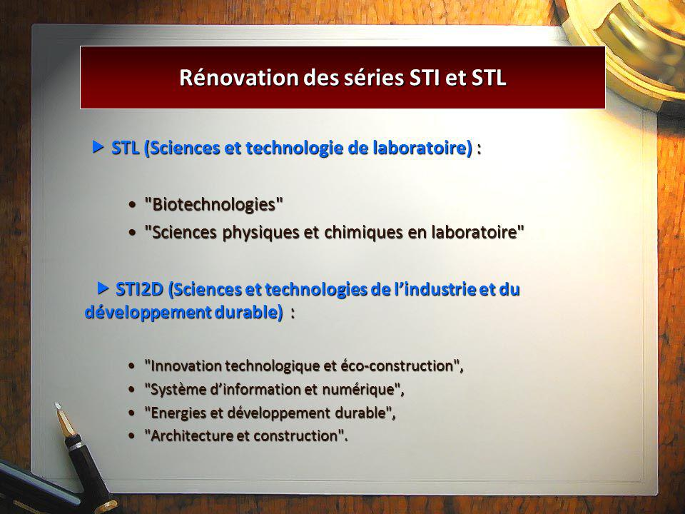  STL (Sciences et technologie de laboratoire) :  STL (Sciences et technologie de laboratoire) :