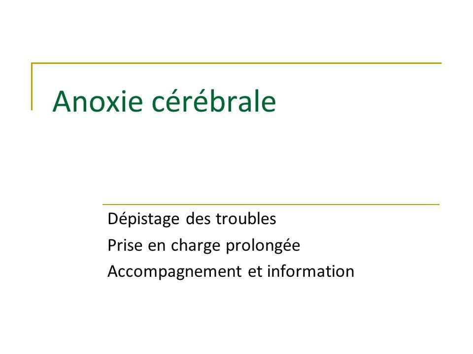 Anoxie cérébrale Dépistage des troubles Prise en charge prolongée Accompagnement et information
