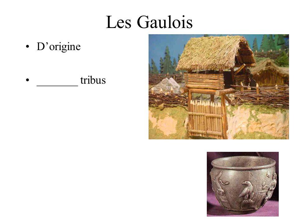 Les Gaulois D'origine _______ tribus