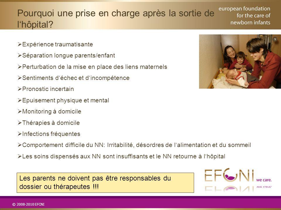 © 2008-2010 EFCNI  Expérience traumatisante  Séparation longue parents/enfant  Perturbation de la mise en place des liens maternels  Sentiments d'