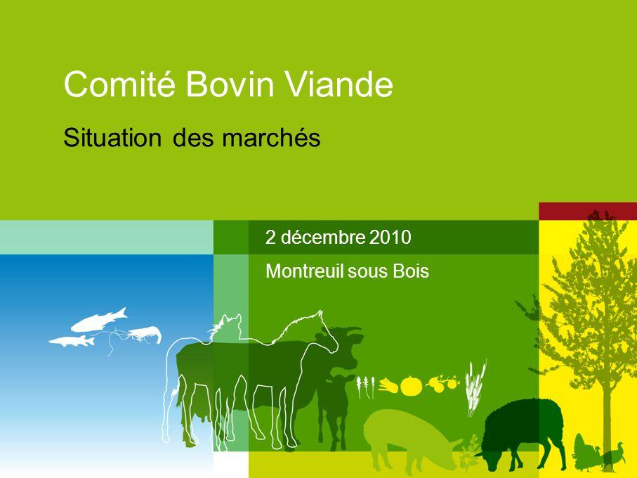Comité Bovin Viande Situation des marchés 2 décembre 2010 Montreuil sous Bois