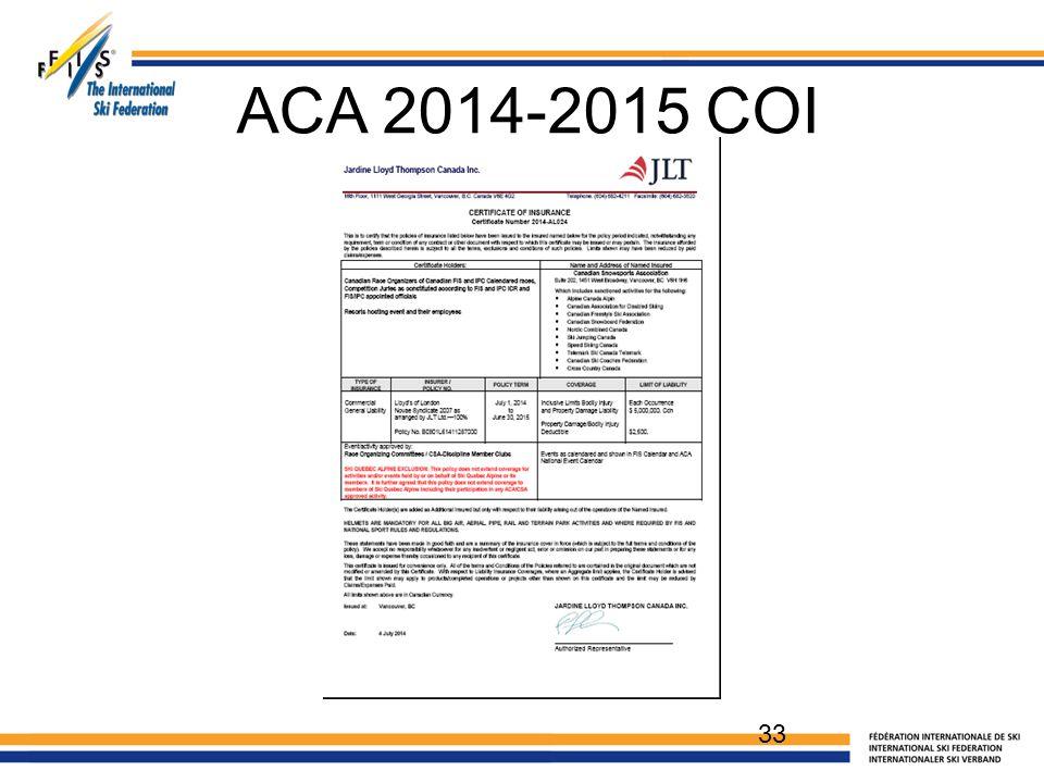 ACA 2014-2015 COI 33