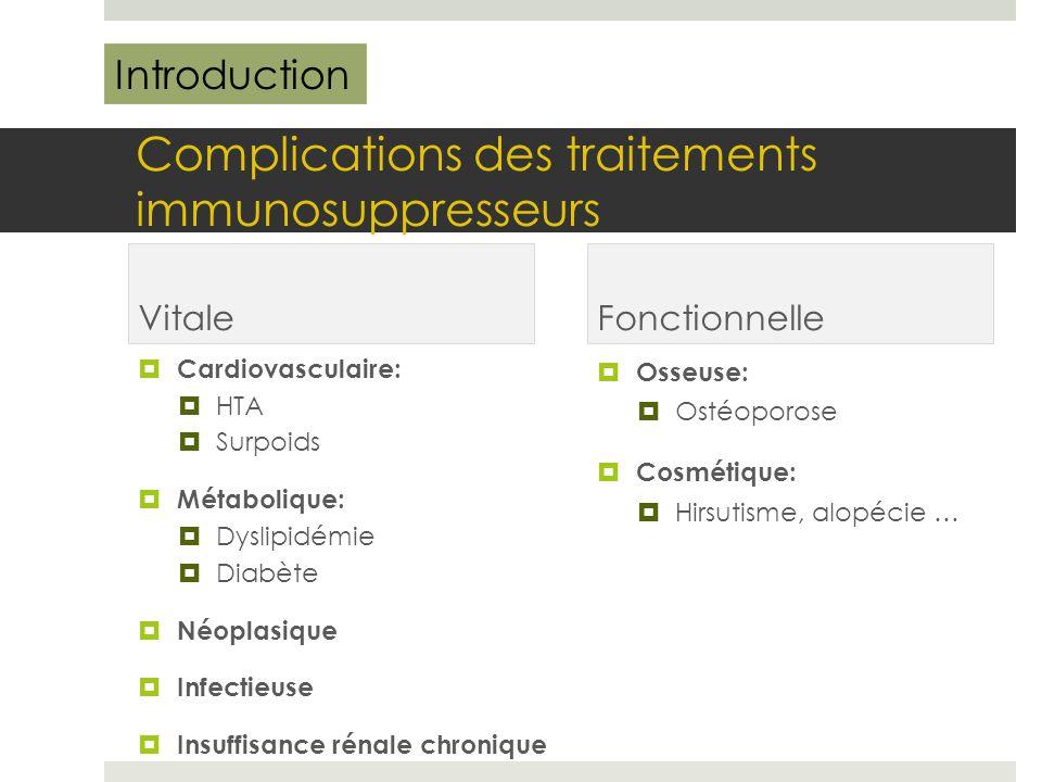 Rappel sur l'immunosuppression: Physiopathologie Introduction
