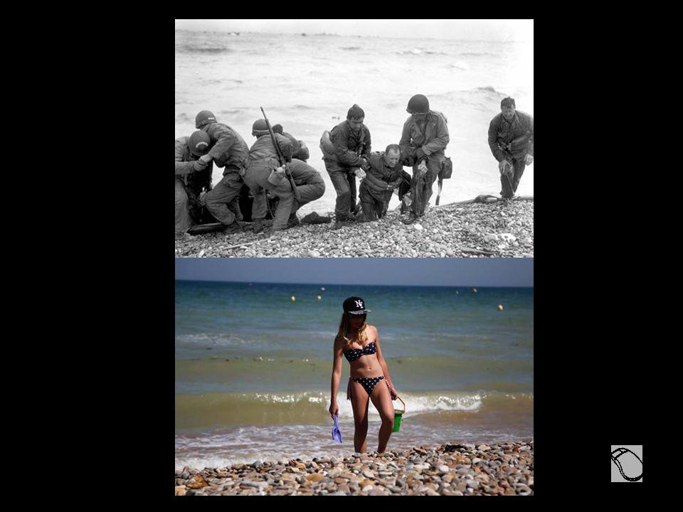 70 ans séparent ces Images Noir et Blanc émouvantes de ceux qui se sont battus pour que nous puissions profiter... des images Couleurs de ceux qui son