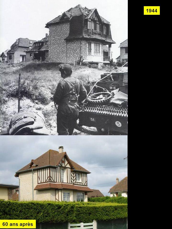 Exactement les mêmes lieux le même cadrage le même angle de prise de vues mais 60 ans plus tard et dans d'autres circonstances !... Les photos de 1944