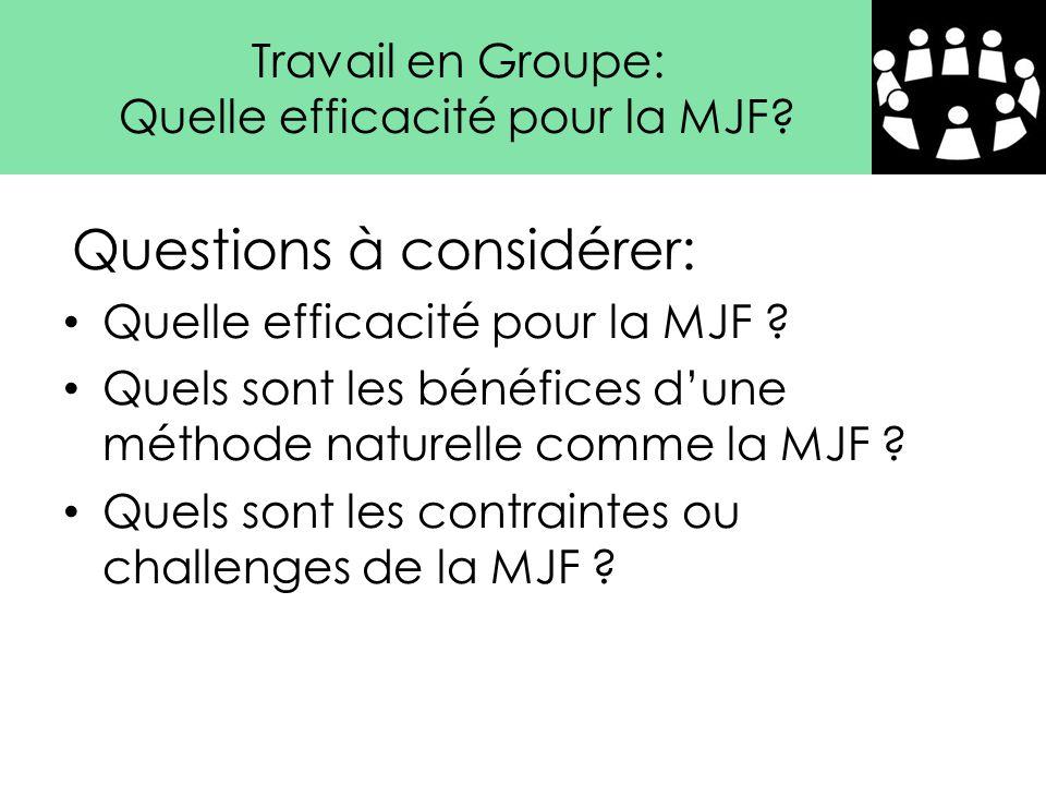 Quelle efficacité pour la MJF ? Quels sont les bénéfices d'une méthode naturelle comme la MJF ? Quels sont les contraintes ou challenges de la MJF ? Q