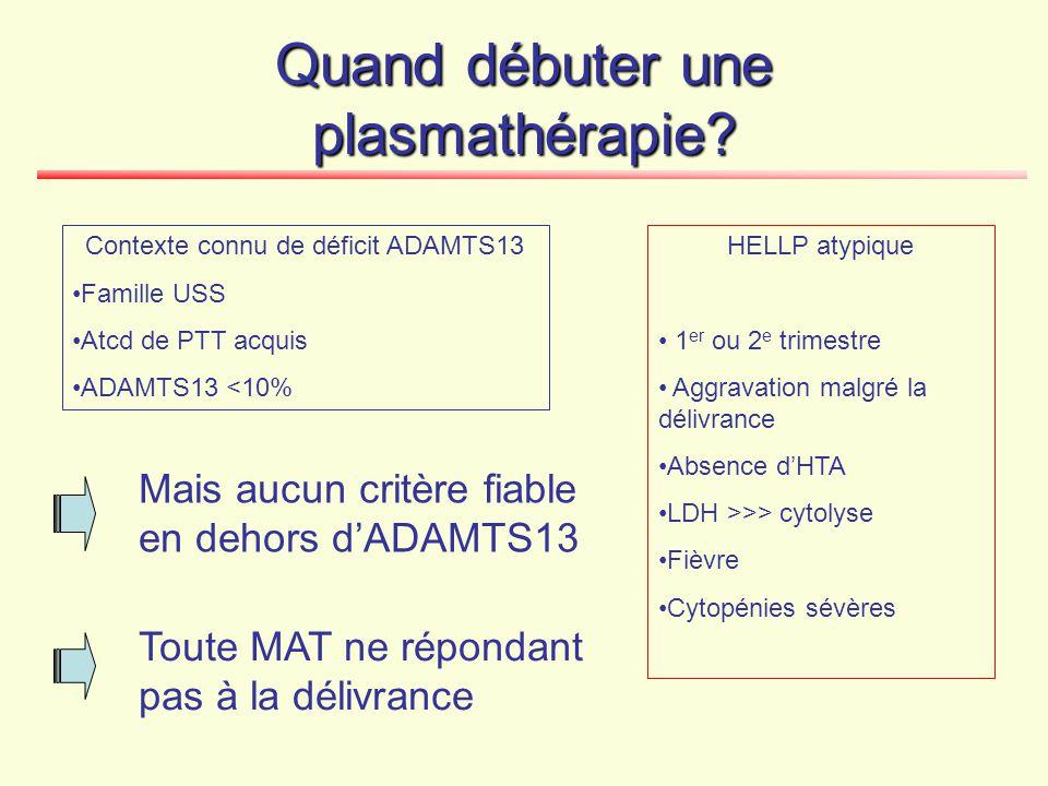 Traitement du PTT de la grossesse PEX (+ corticoïdes)FŒTUS .