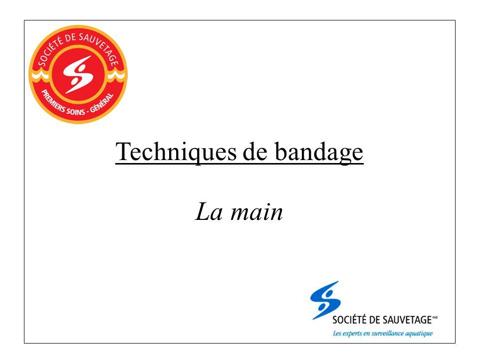 Techniques de bandage La main