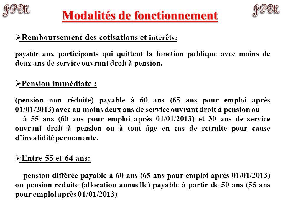 Engagements (employé(e)s après 01/01/2013) Participation:  Les employés nommés pour une période indéterminée (minimum de 12 heures par semaine) ou po