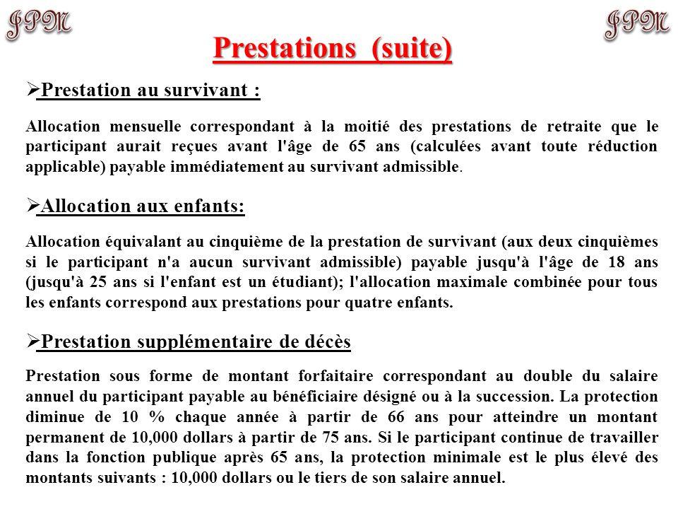 Prestations (employé(e)s avant 01/01/2013) Que peut-on conclure de l'exercice précédent? Les estimations sont complexes à effectuer mais le traitement